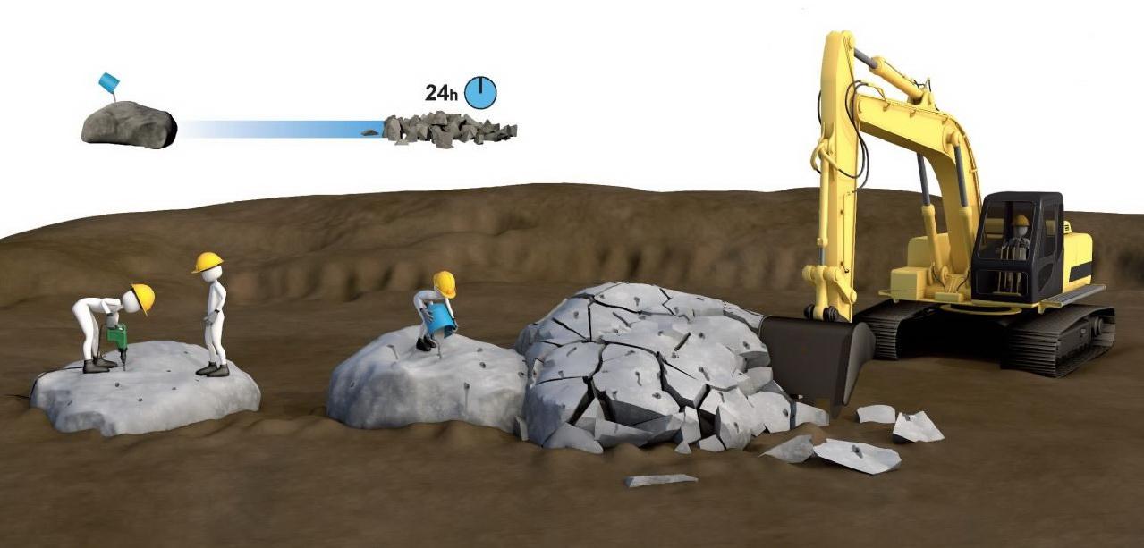 demolicao de rocha 01 - Demolição de Rocha - Equipamentos e Mão de Obra Especializada