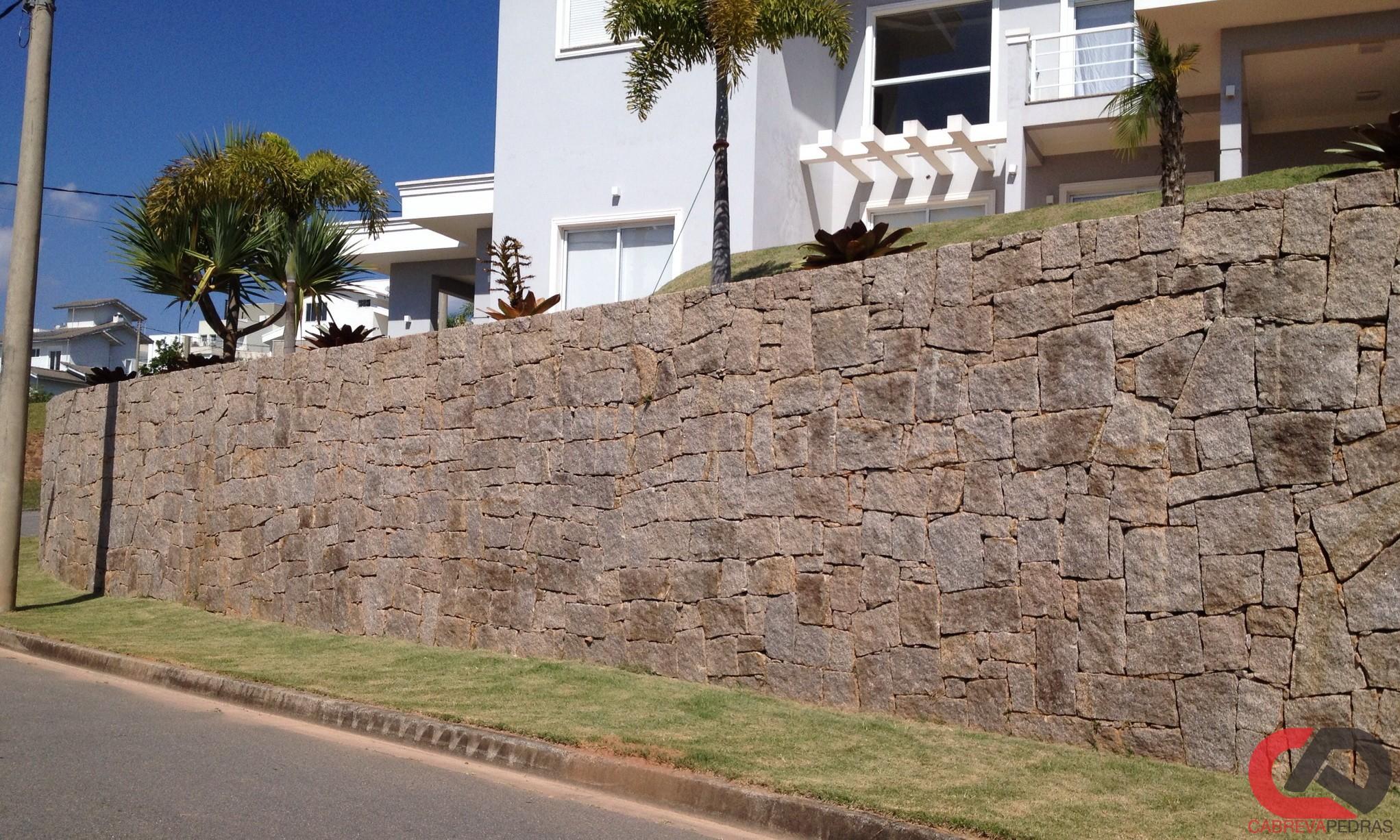 muro de pedra 02 - Muro de Pedra - Material e Mão de Obra Especializada